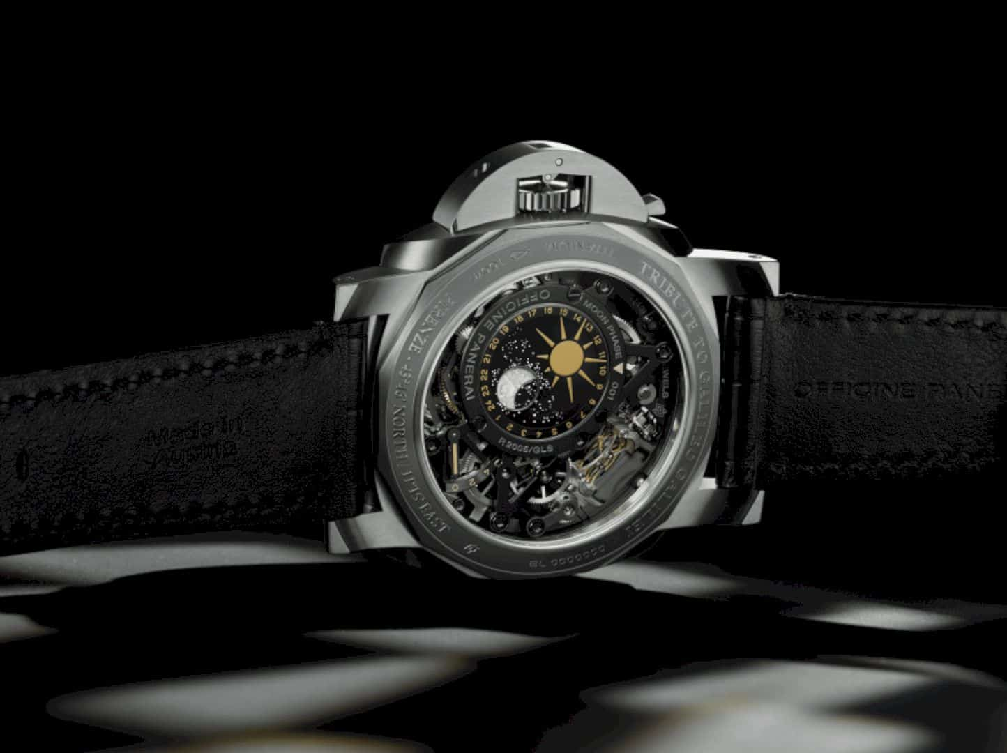 L'Astronomo Luminor 1950 Tourbillon Watch with Moon Phases Equation