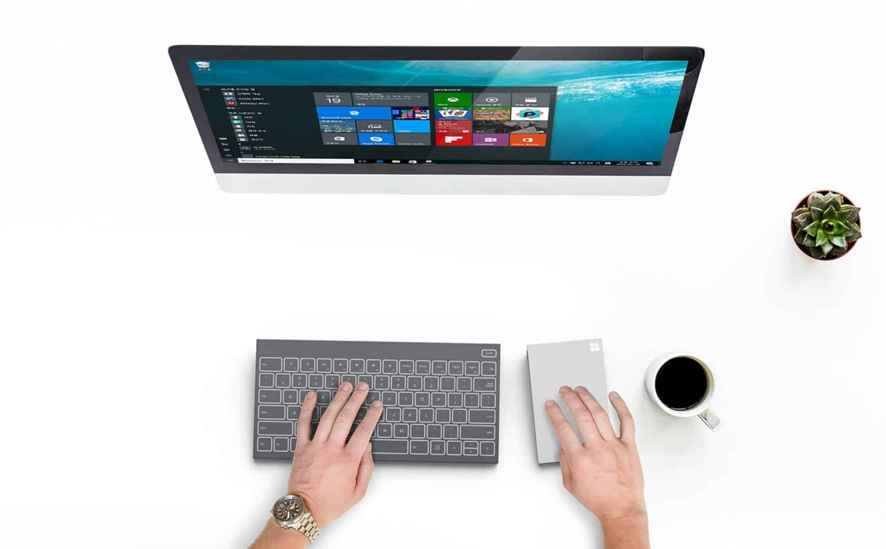 All In One Keyboard × Microsoft Concept 2