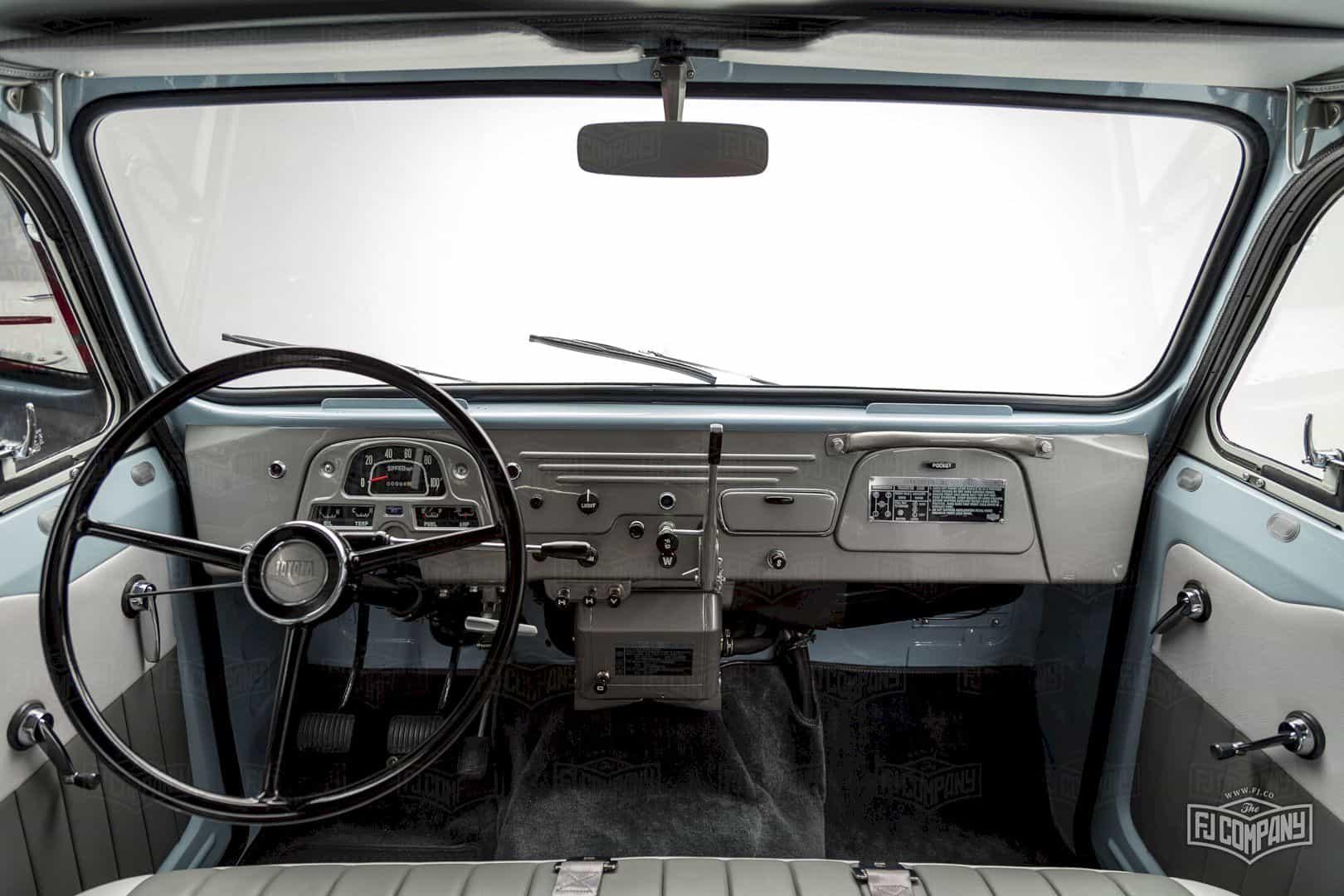 1967 Toyota Land Cruiser Fj45lv Capri Blue 4