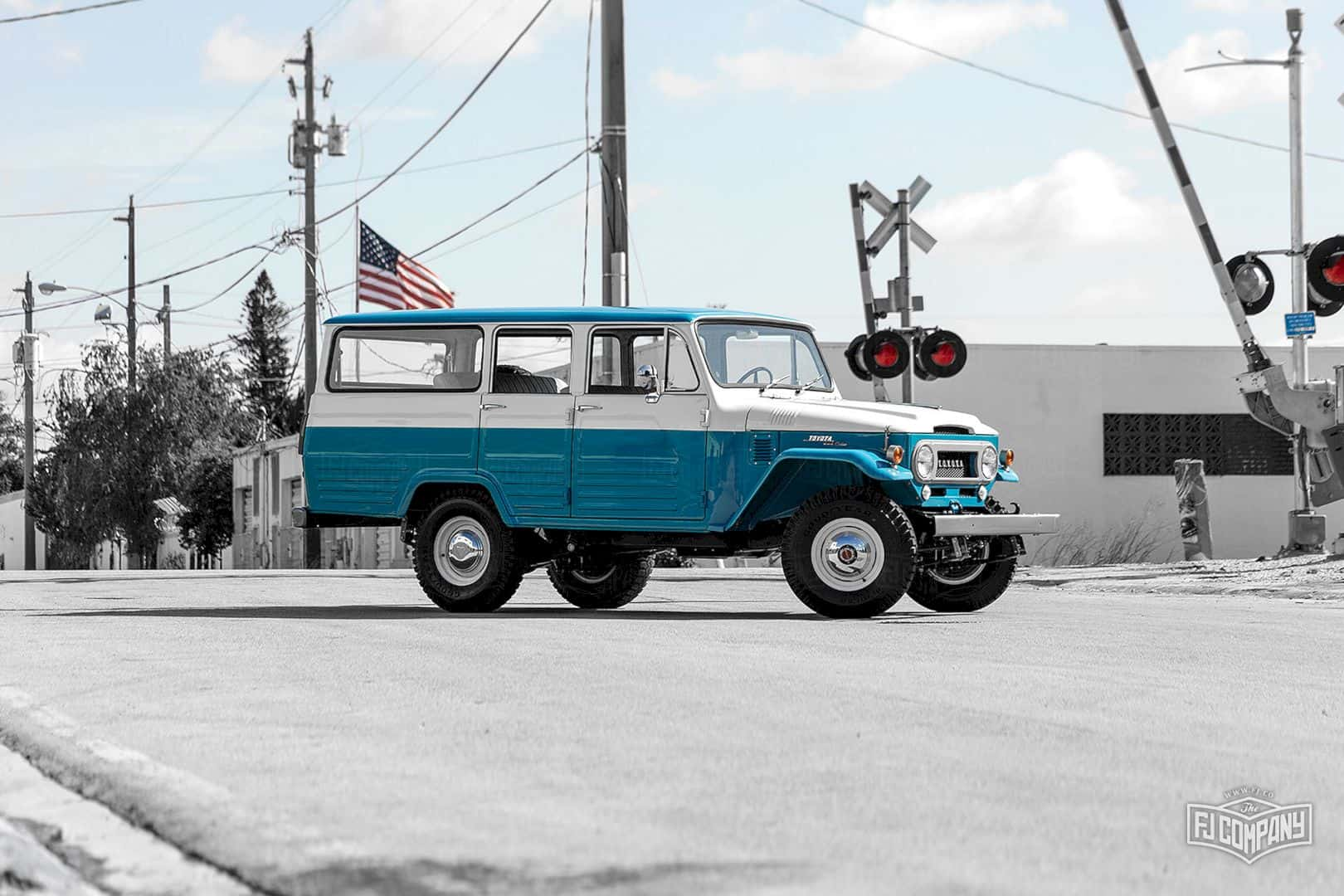 1967 Toyota Land Cruiser Fj45lv Capri Blue 9