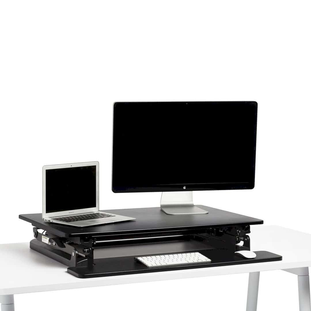 Black Medium Peak Adjustable Height Standing Desk Riser 5