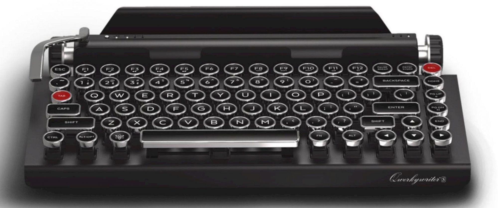 Qwerkywriter S®: The New Typewriter Inspired by Mechanical Keyboard