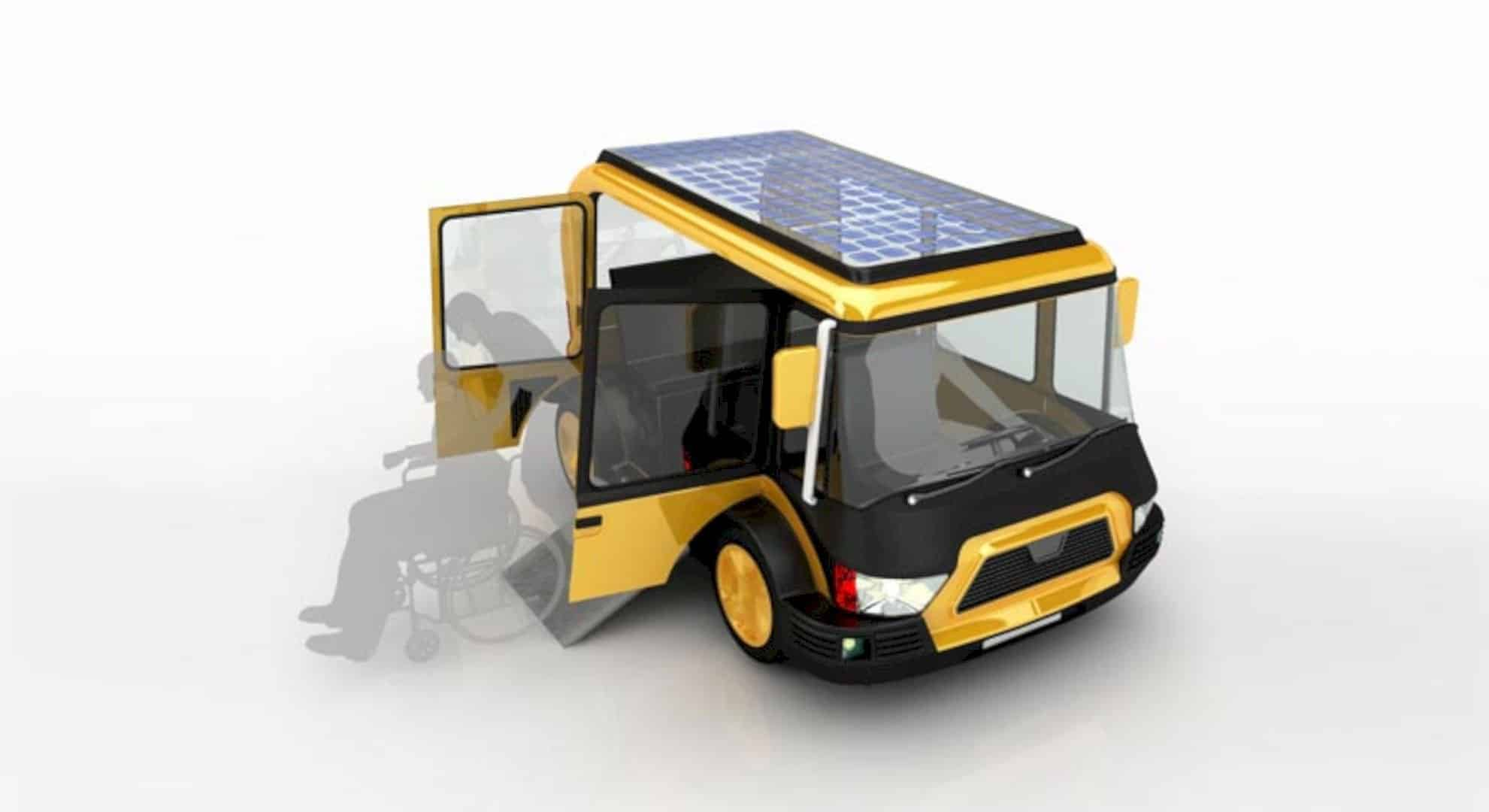 Solar Taxi: An Electric Vehicle with Clean Energy for High-Performance Service