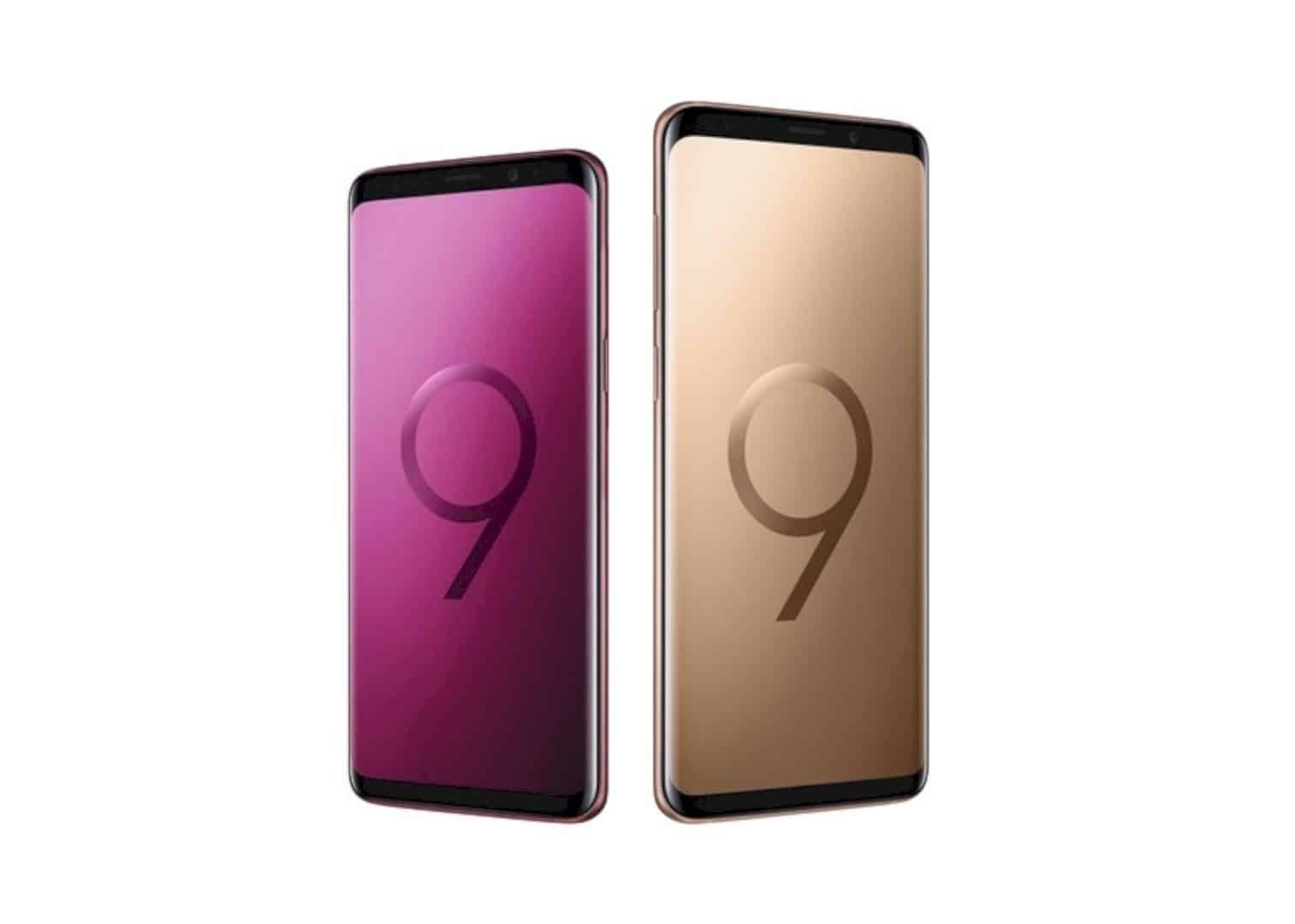 Sunrise Gold And Burgundy Red Editions For Galaxy S9 And S9 6