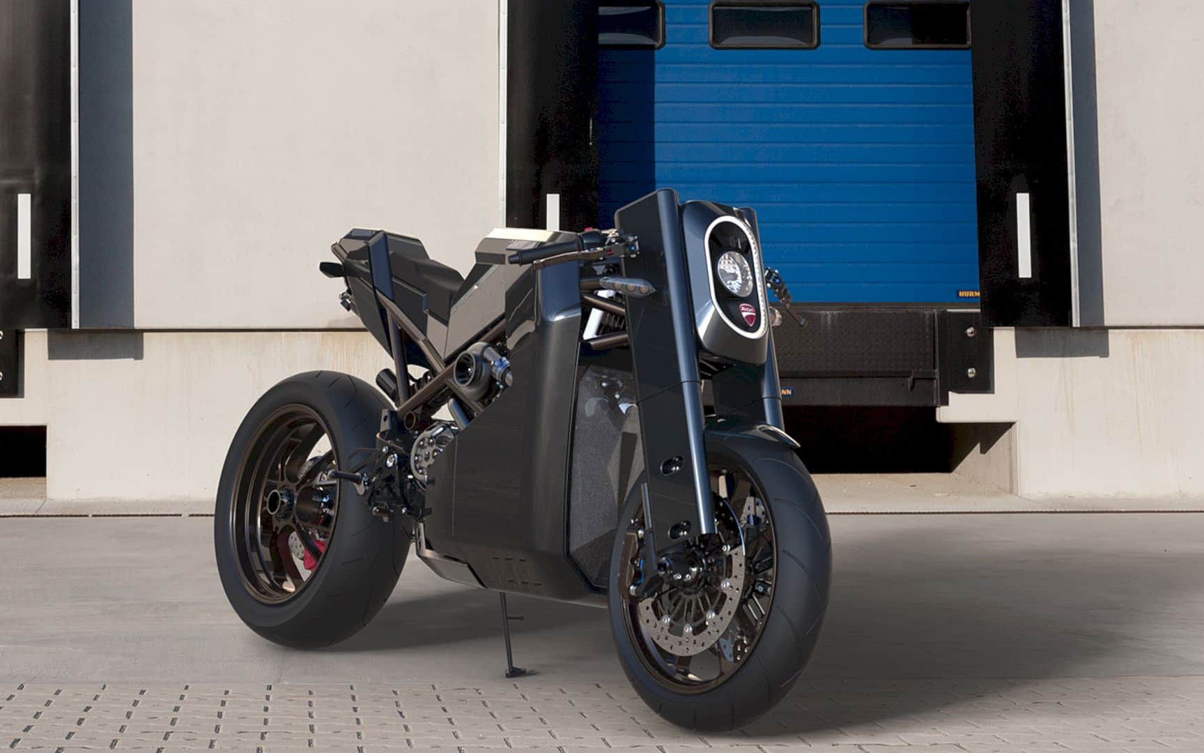 BIG FOOT: An Automotive Design of Ducati Custom Bike