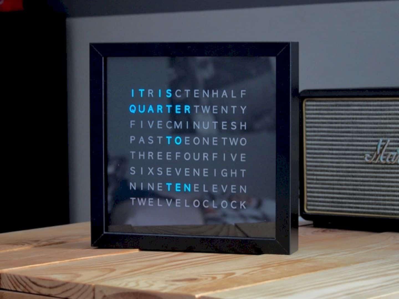 Letter Based Clock 5