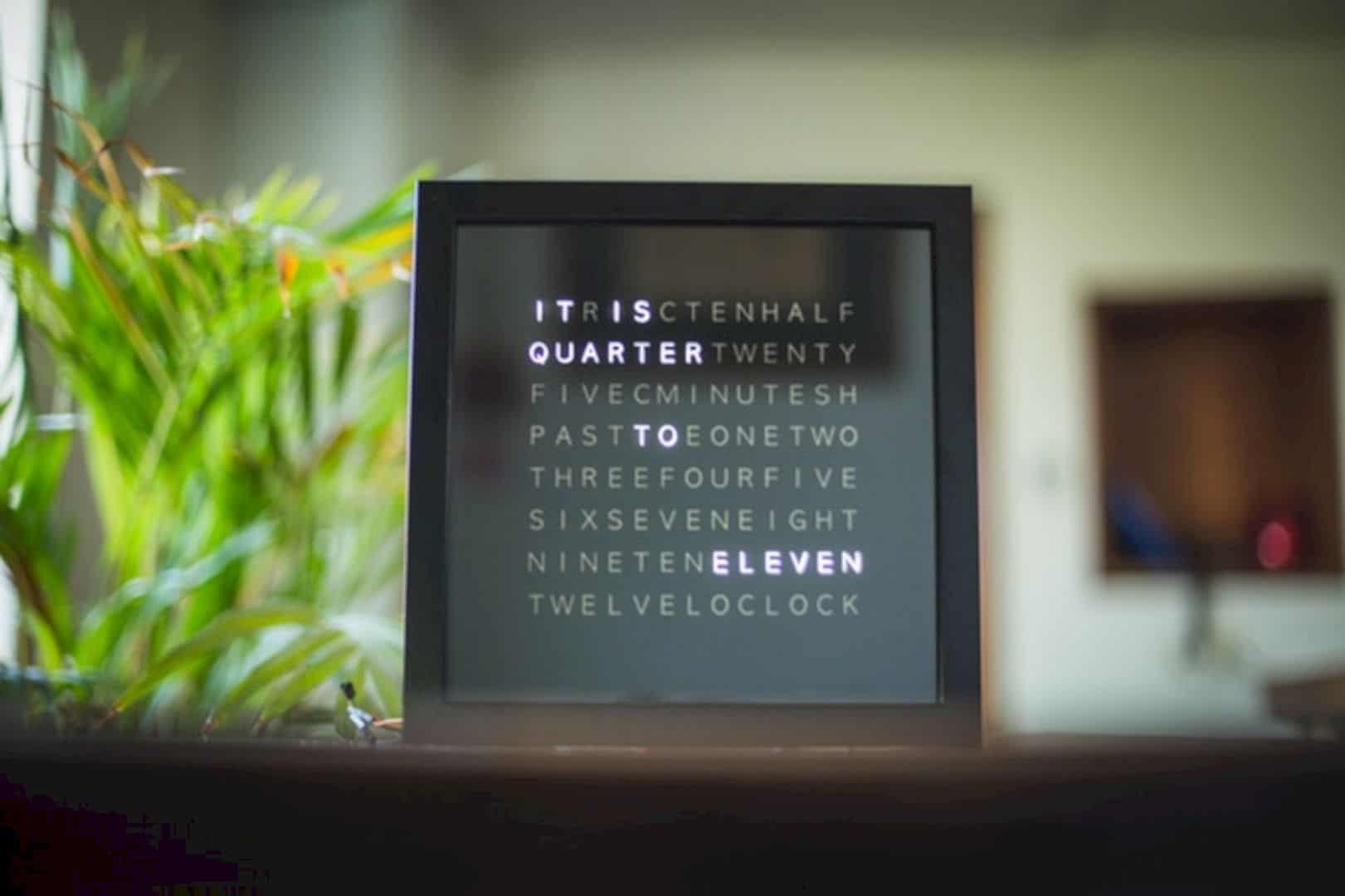 Letter Based Clock 6