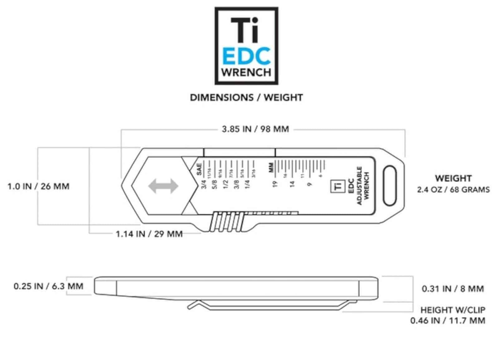 Ti Edc Wrench 1