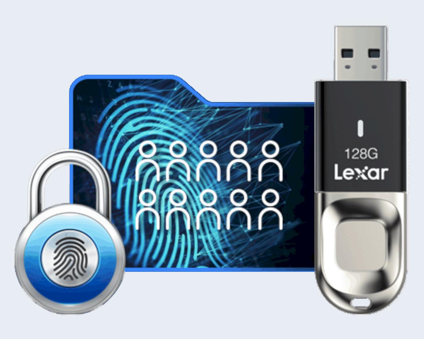 Lexar Jumpdrive Fingerprint F35 Flash Drive 3