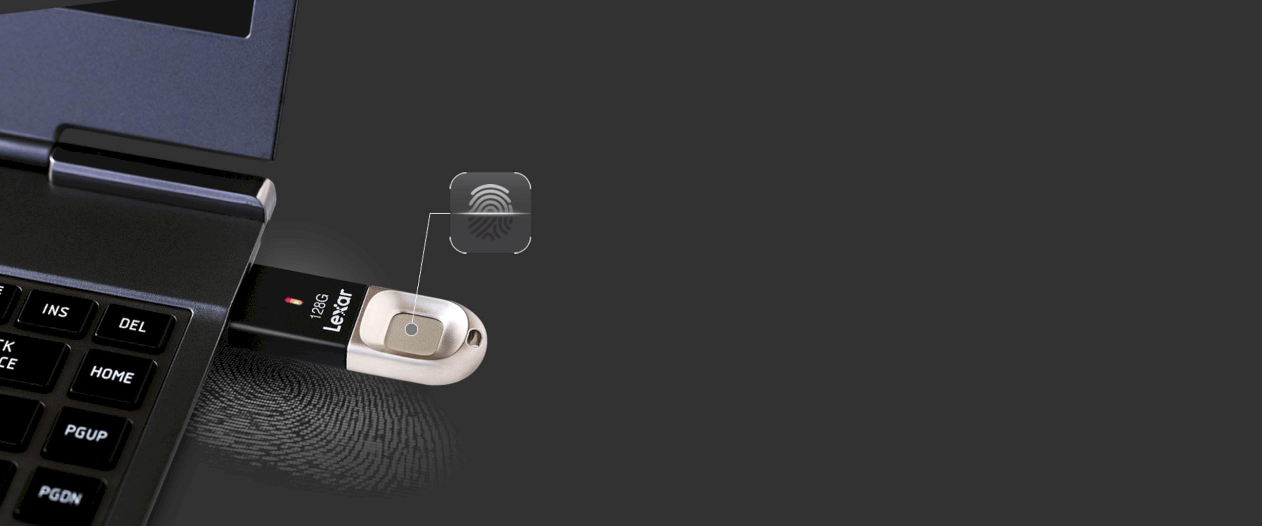 Lexar Jumpdrive Fingerprint F35 Flash Drive 4