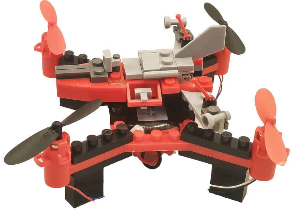 Diy Building Block Fly N Drive Space Racer Drone 2