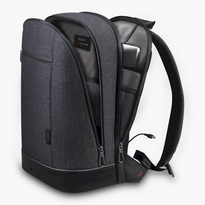 Agazzi: The Urban Tech Backpack Reinvented with Fingerprint Lock