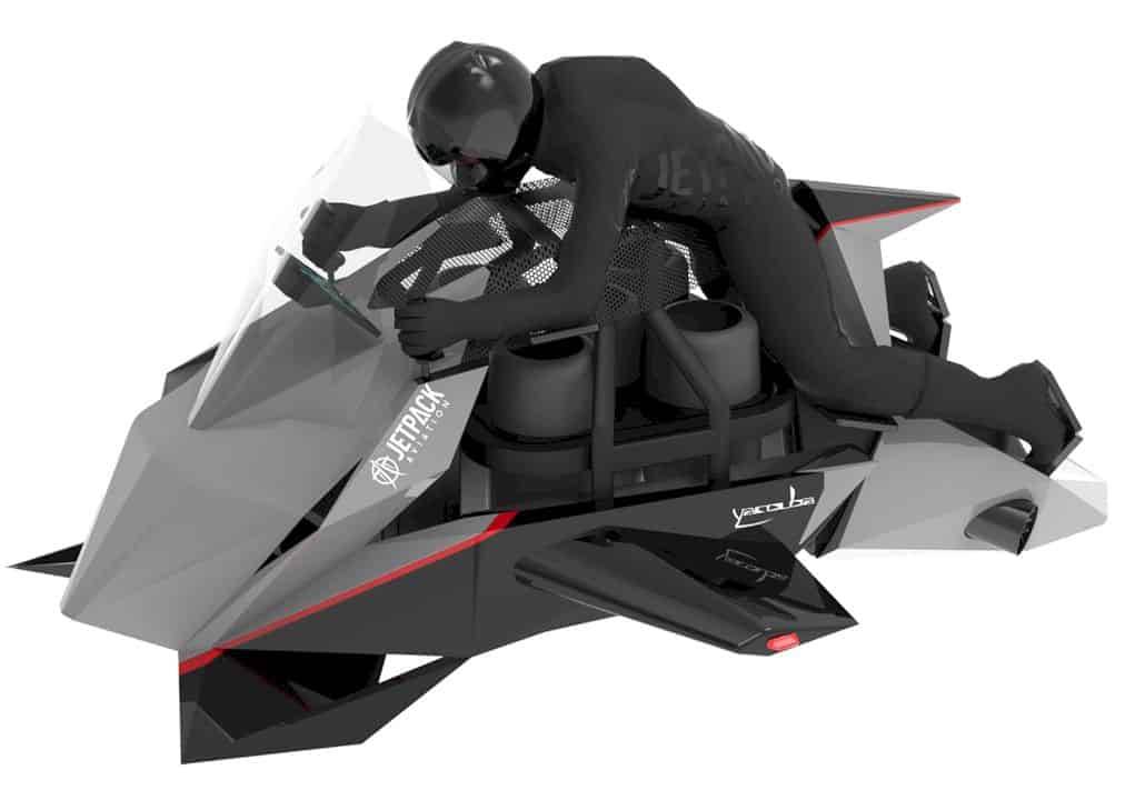 JetPack Aviation The Speeder: The world's first flying motorcycle
