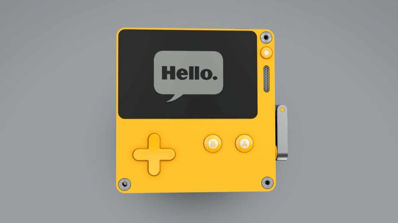 Playdate: It's yellow. It fits in your pocket. a brand new handheld gaming system.