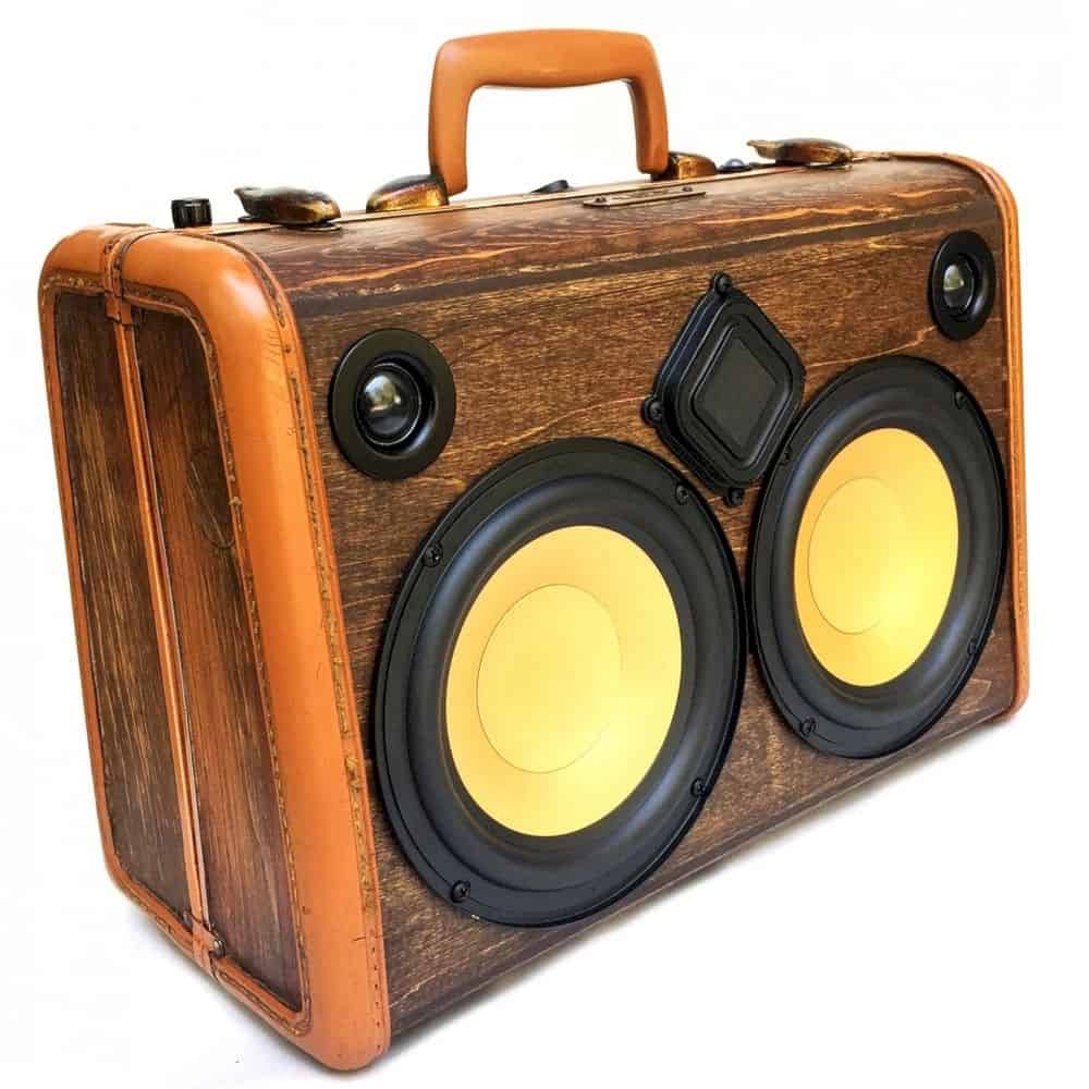 Classic Woodgrain BoomCase: The Ultra Portable with Clear and Crisp Sound