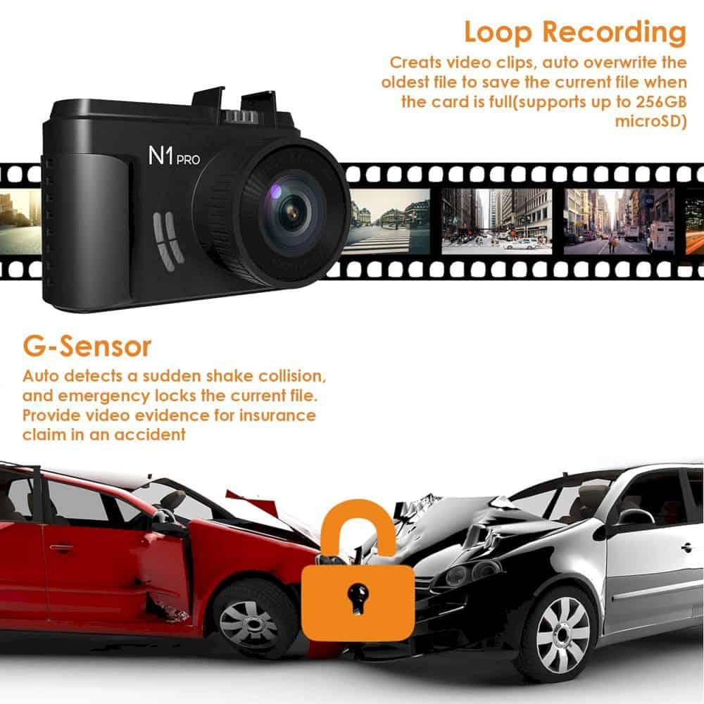 Vantrue N1 Pro Mini Dash Cam 1
