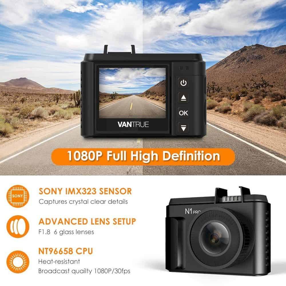 Vantrue N1 Pro Mini Dash Cam 5