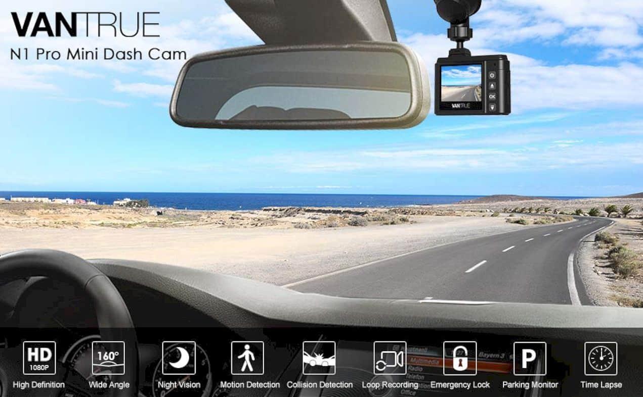 Vantrue N1 Pro Mini Dash Cam 8