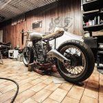 Cafe Racer Frame Garage Making 1599