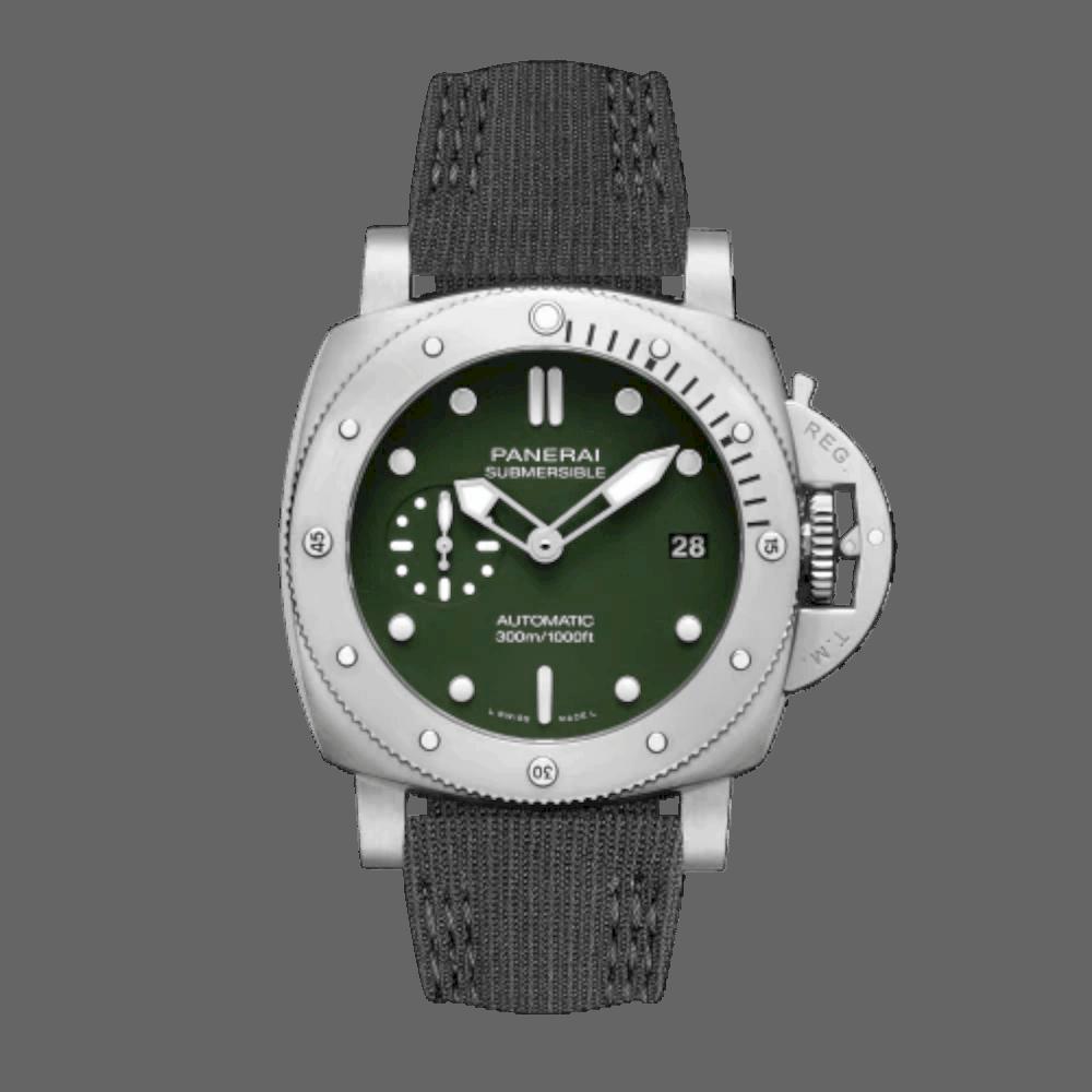 Panerai Submersible Verde Militare 11
