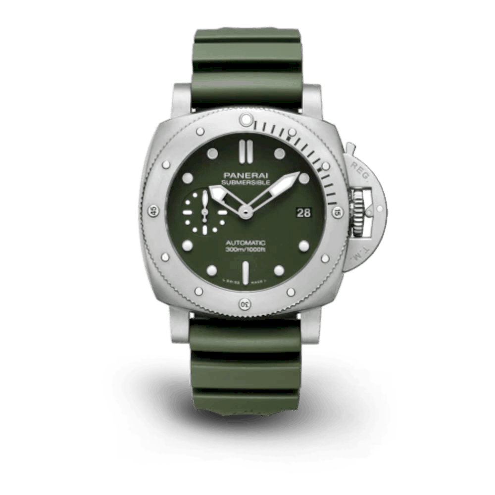 Panerai Submersible Verde Militare: Extreme conditions call for extraordinary instruments.