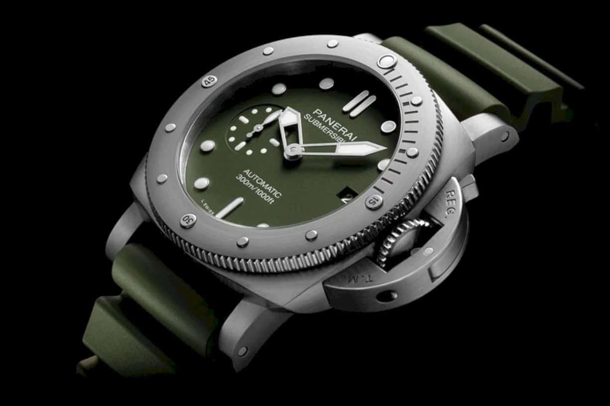 Panerai Submersible Verde Militare 2