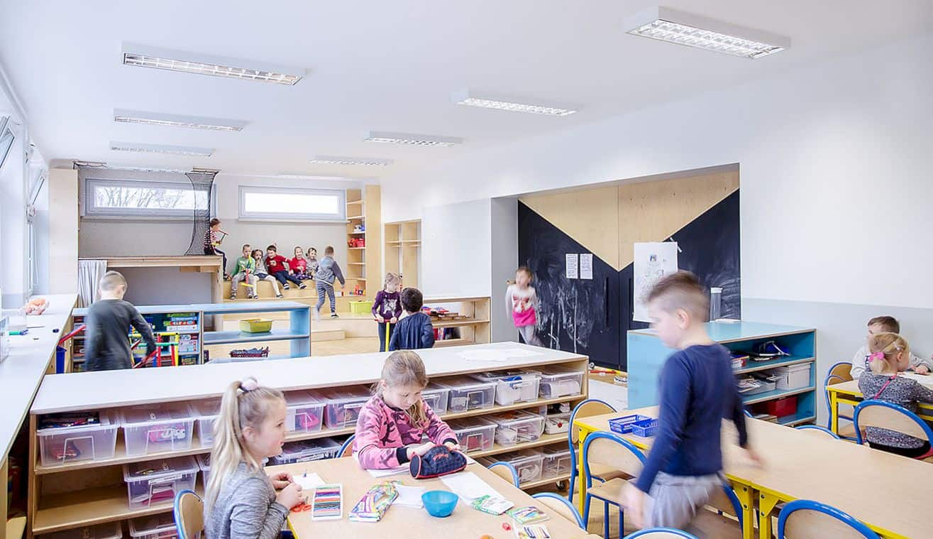 Interior In Kindergarten Nr 42 Kwiaty Polskie By Atelier Starzak Strebicki 6