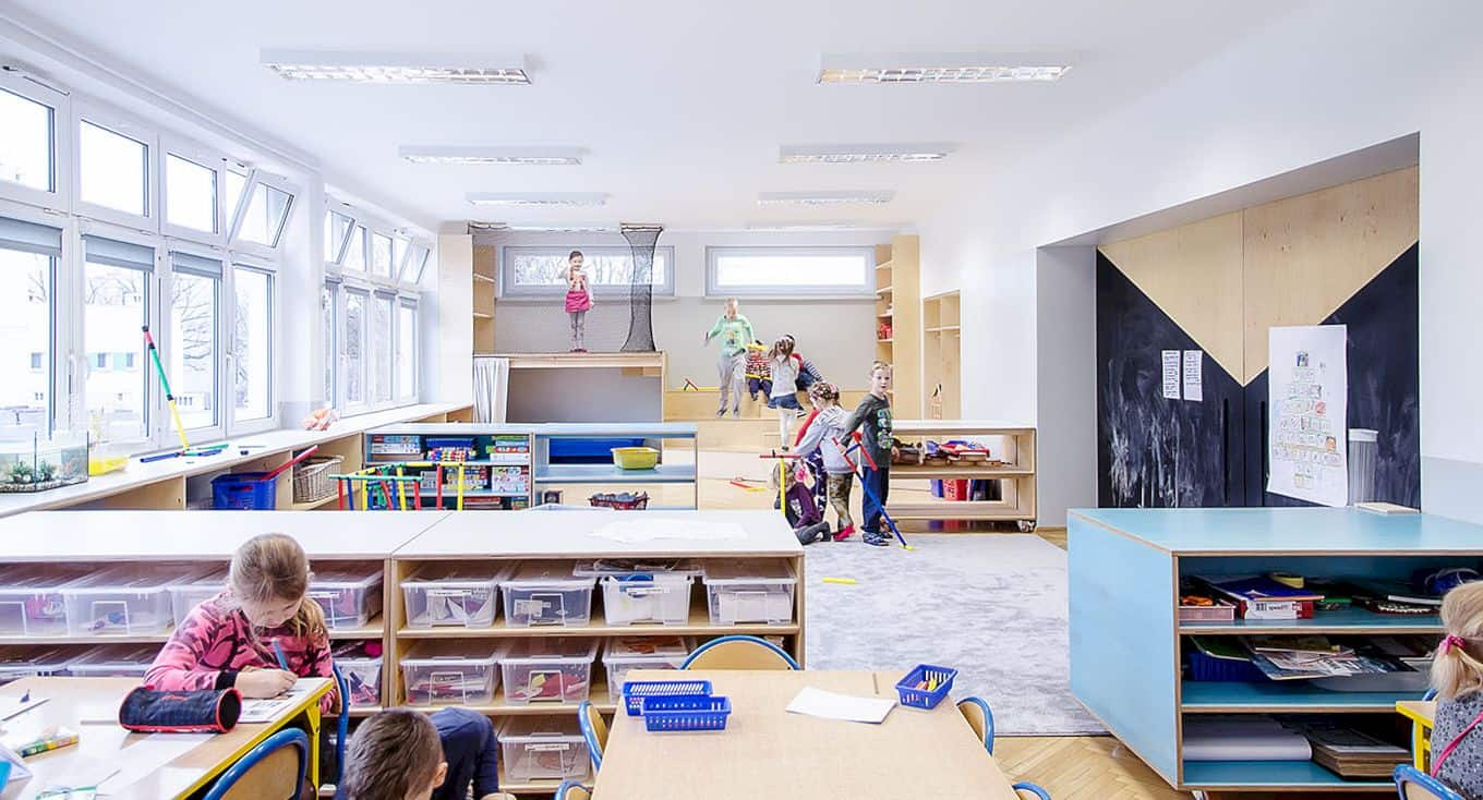 Interior In Kindergarten Nr 42 Kwiaty Polskie By Atelier Starzak Strebicki 7